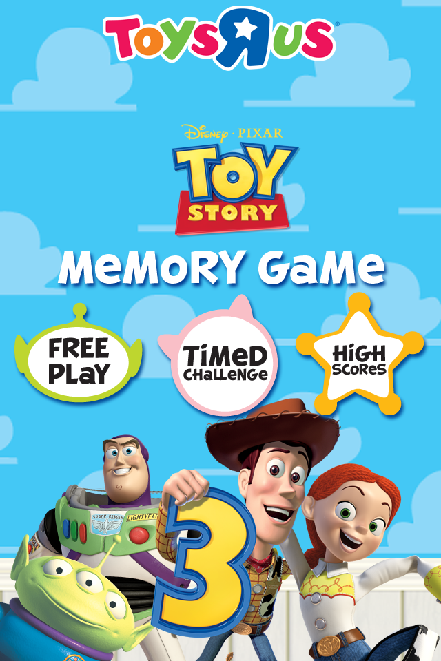 Screenshot Toy Story 3 Memory Match